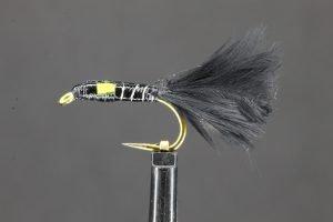 Epoxy Yellow Marabou Buzzer short scaled