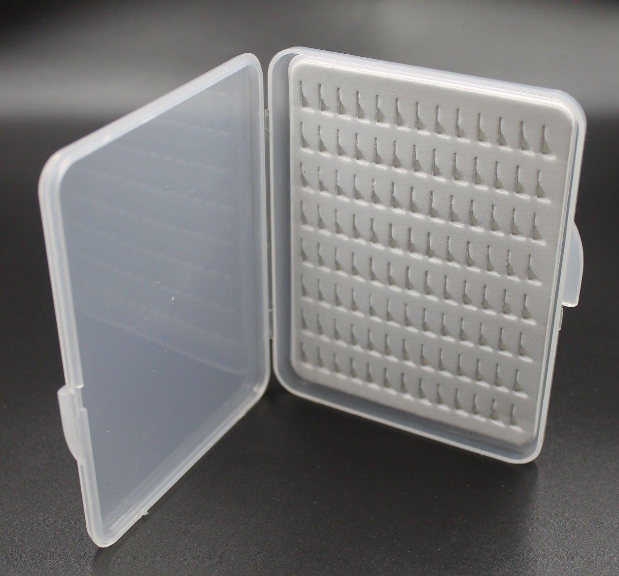 Grey Slimline EVA Slit Foam Insert Plastic Fly Fishing Boxes