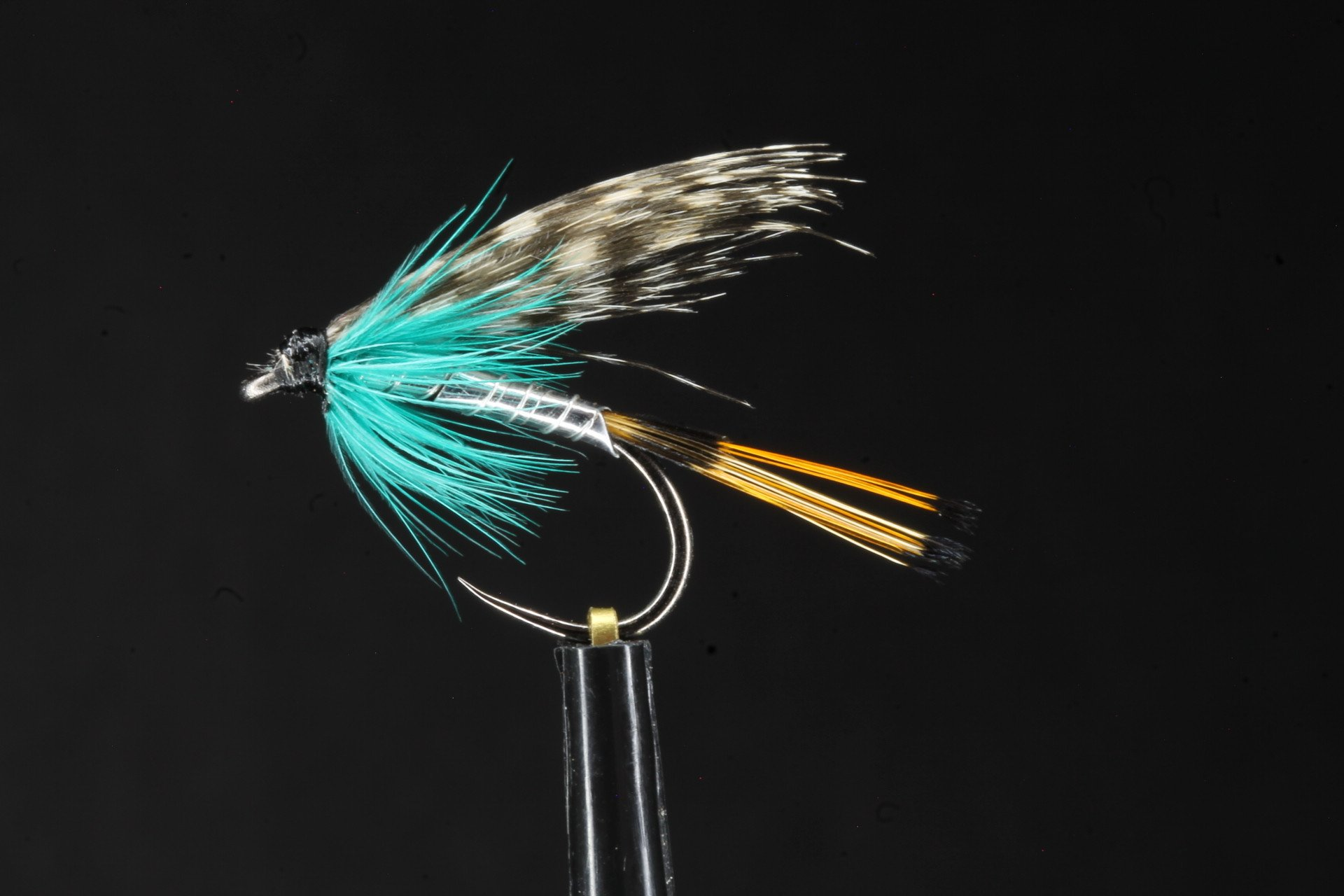 Teal Blue and Silver Wet Fly