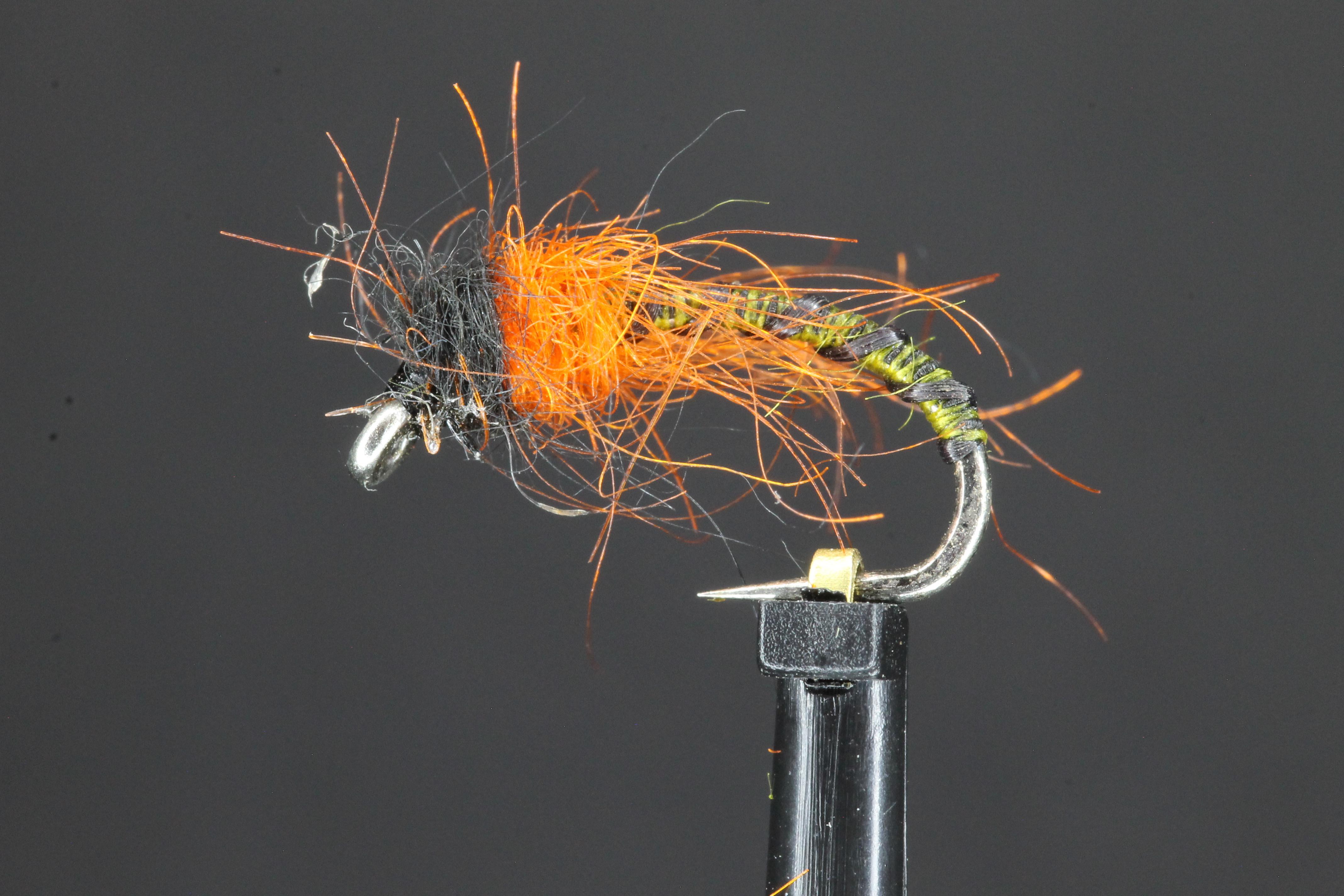 Olive Black Buzzer Orange Head